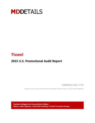 Tisseel 2015 report   MDDetails